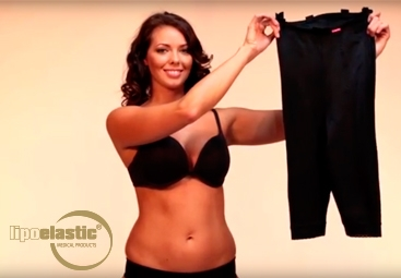 How to put on LIPOELASTIC® post-operative liposuction compression garments properly?