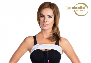 How to put on formed LIPOELASTIC® breast band properly?