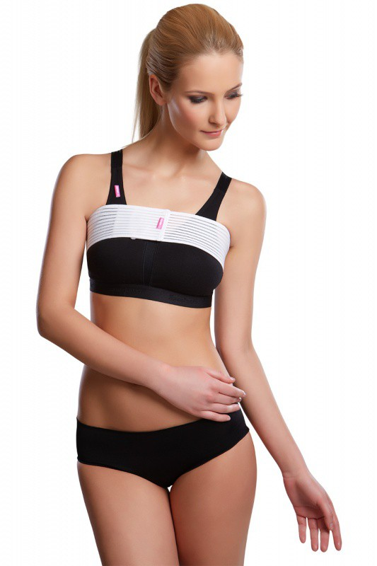 Pooperační prsní stabilizační pás SI speciál na suchý zip - Lipoelastic.cz