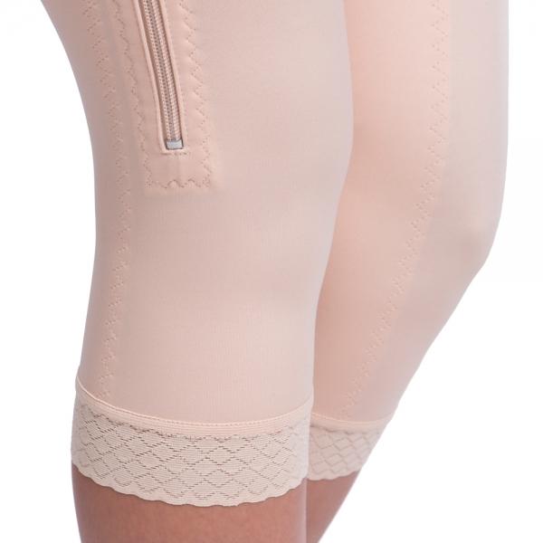 Kompresní pooperační dámská bandáž VD speciál Comfort pod kolena se zapínáním na zip - Lipoelastic.cz
