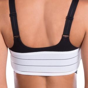 Pooperační tvarovaný prsní stabilizační pás SG na suchý zip  - Lipoelastic.cz